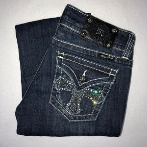 Miss Me Embellished Cross Bootcut Jeans 28 36